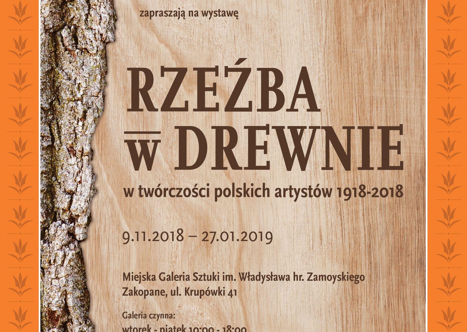 Rzeźba W Drewnie W Twórczości Polskich Artystów 1918 2018